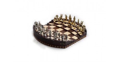 ARENA 3D CHESS BOARD WALNUT BIG SIZE | METAL FİGÜRLÜ (2657.WAL.5031)